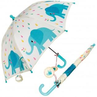 Parapluie enfant éléphants bleus