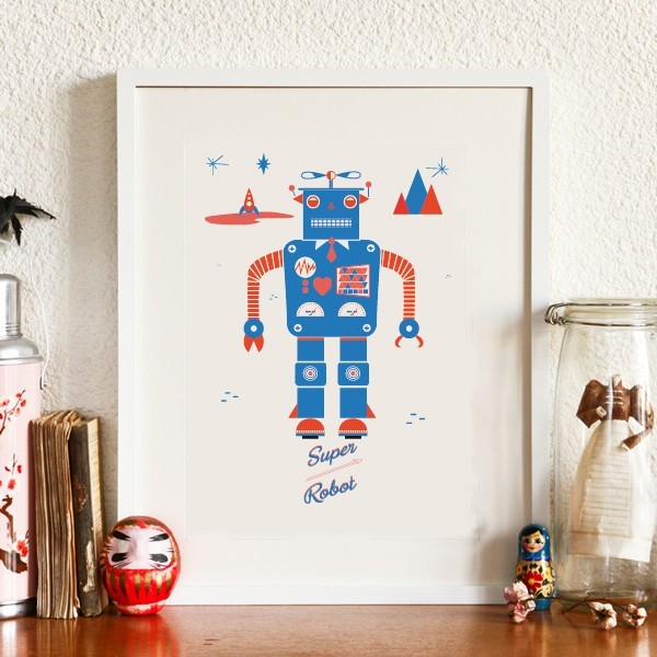 ... > Affiches, Posters, Stickers > Affiche Robot - Sérigraphie
