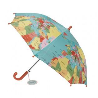 Parapluie enfant carte du monde