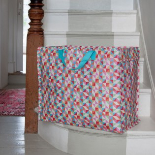 Grand sac de rangement géométrique coloré