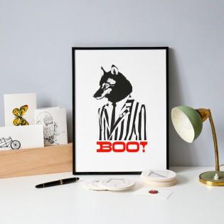 Loup - Sérigraphie par Mlle Ben & Le Marquis de Moon