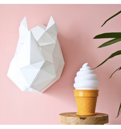 Kit de pliage papier trophée Rhinocéros blanc - Assembli