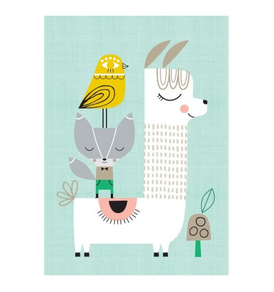 Affiche jolie Lama et ses amis Suzy Ultman