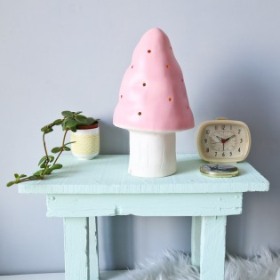 Petite Lampe Veilleuse champignon rose pastel Egmont toys
