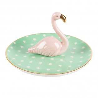 Coupelle à bijoux Flamant rose mint