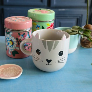 Mug Chat gris Kawaii