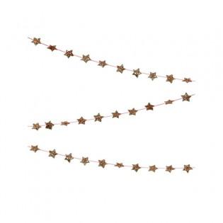 Guirlande mini étoiles dorées à paillettes Meri Meri