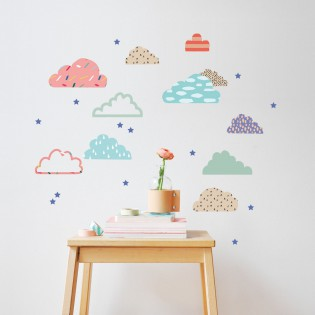 Stickers Just a touch Cloudy nuages Mimi lou