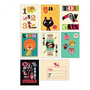 Lot de 7 cartes et enveloppes Ingela Arrhenius série 2