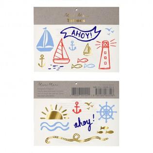 Tatouages thème marin - Meri Meri