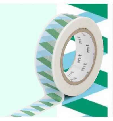 Masking tape zigzag bleu/vert