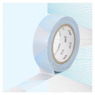 Masking tape oblique argent et bleu