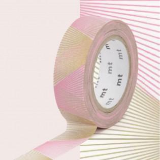 Masking tape oblique or et rose