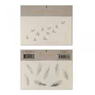 Tatouages éphémères oiseaux en vol Meri Meri