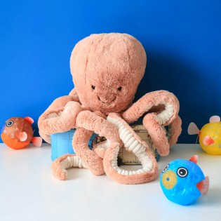 Grande peluche Odell octopus - Jellycat