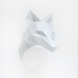 Kit de pliage papier Renard gris - Trophée assembli