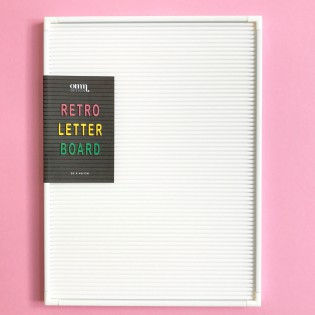 Tableau d'affichage rétro blanc Omm Design