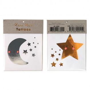 Tatouages étoile et Lune Meri Meri