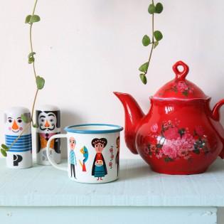 Mug artistes émaillée Ingela Arrhenius - Omm Design