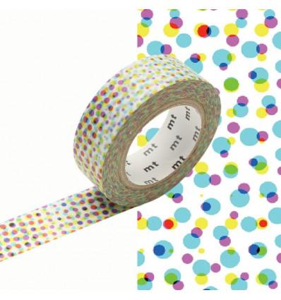 Masking tape motif pixel half tone