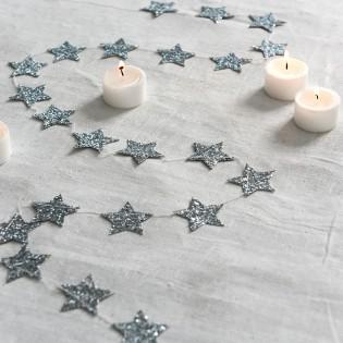 Guirlande d'étoiles argentées - Rex