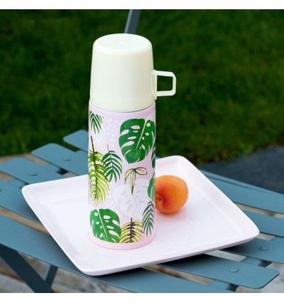 Thermos feuilles tropicales