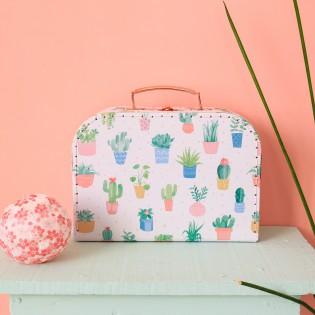 Valisette en carton cactus (M)