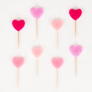 8 bougies coeurs - My Little Day