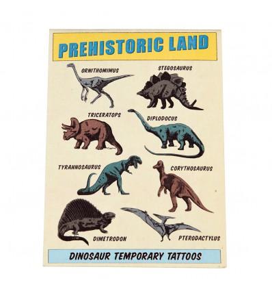 Tatouages temporaires dinosaures préhistoriques