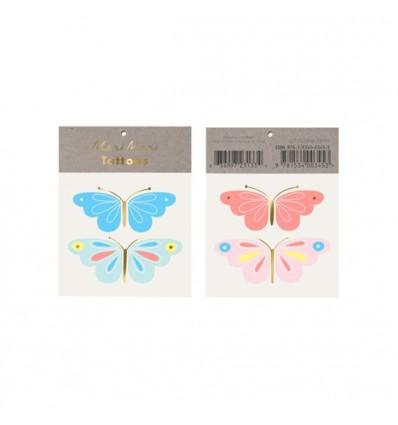 Tatouages papillons flashy Meri Meri