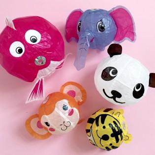 5 Kami fusen animaux - ballons japonais en papier