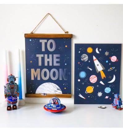 Set de 2 affiches Espace - Meri Meri