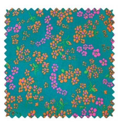 Tissu Petit pan hanako turquoise