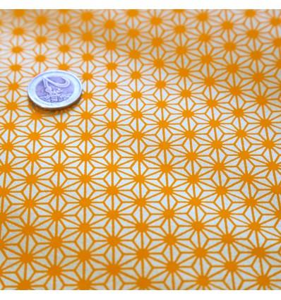 Papier japonais washi motif étoile jaune et or