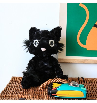 Peluche Chaton noir Dapperdots Jellycat
