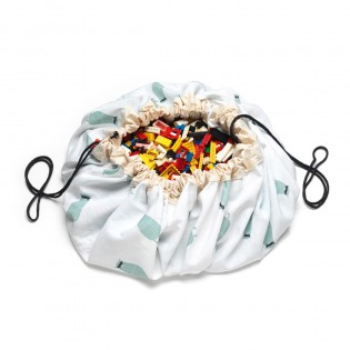 Grand Sac de rangement recto verso Circuit train/ours - Play & Go