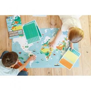 Carte du monde - Poppik