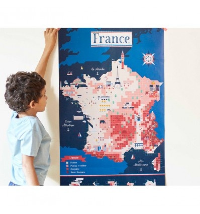 Carte de France / stickers poster - Poppik