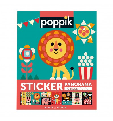 Circus / stickers poster - Poppik