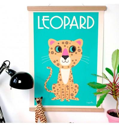 Affiche Léopard nouveau d'Ingela P Arrhenius