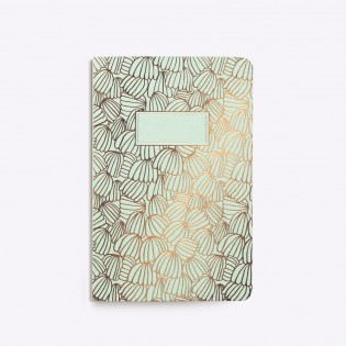 Carnet cousu Parasol mint - Editions du Paon