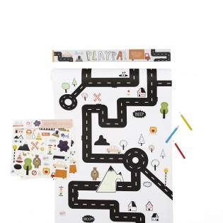 Coloriage créatif circuit Playpa - Olli Ella