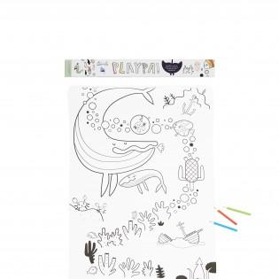 Coloriage créatif océan Playpa - Olli Ella