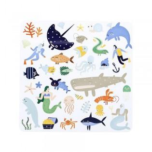 Stickers créatifs océan Playpa - Olli Ella