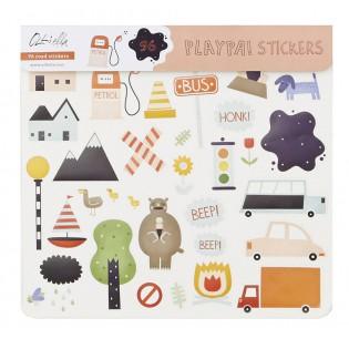Stickers créatifs route Playpa - Olli Ella