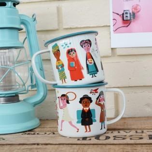 Mug tasse émaillée Féministe Ingela Arrhenius - Omm Design
