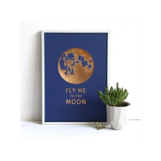 Affiche A4 Fly me to the Moon - Editions du Paon