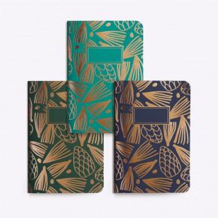 Set de 3 petits carnets Pin - Editions du Paon