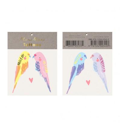 Tatouages perroquets - Meri Meri