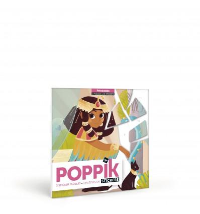 Puzzle en stickers Princesses - Poppik